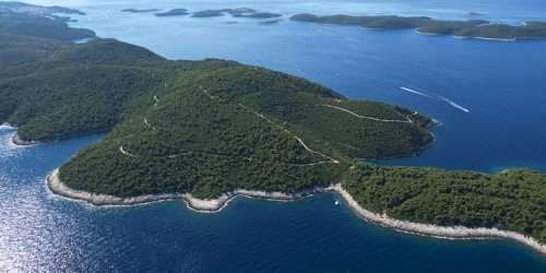 Island Hvar from the air