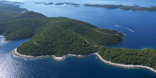 Island Hvar from the air