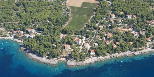 Zavala Island Hvar from the air